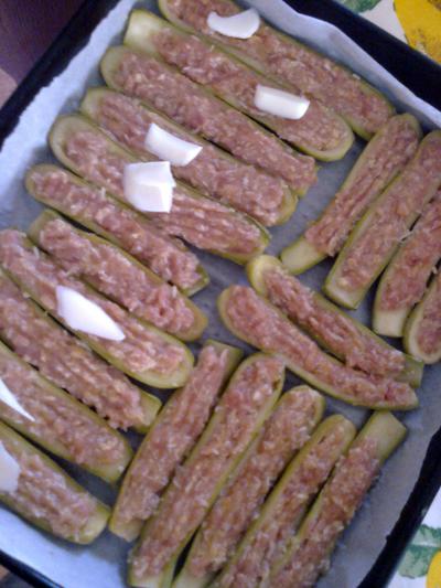 Le nostre zucchine, appena prima di essere infornate *_*